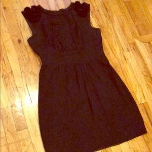 ABS Collection Black Dress with Rosette Details